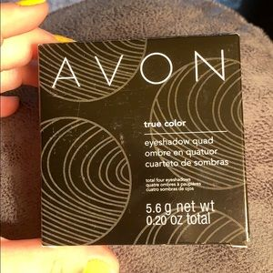 Never used Avon eyeshadow- true color quad brushes